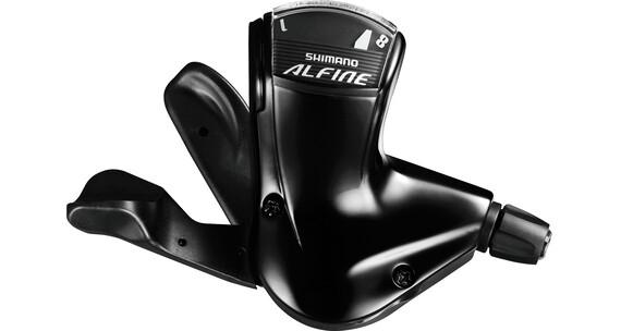 Shimano Alfine SL-S7000-8 Gearhåndtag 8-speed, forniklet sort